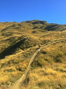 Rude rock mountain bike trail on Coronet Peak