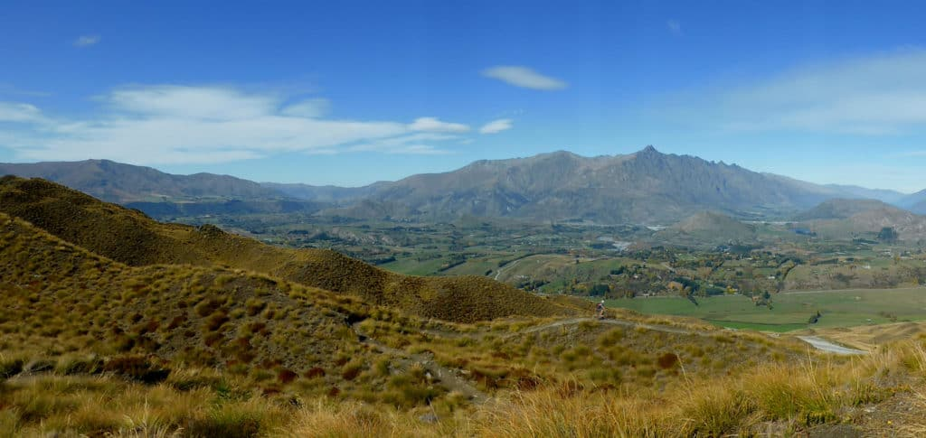 View from Coronet Peak Mountain Bike Trails