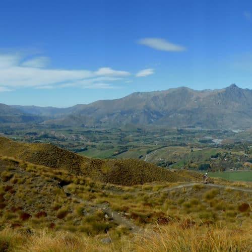 Views from Coronet Peak Mountain Bike Trails