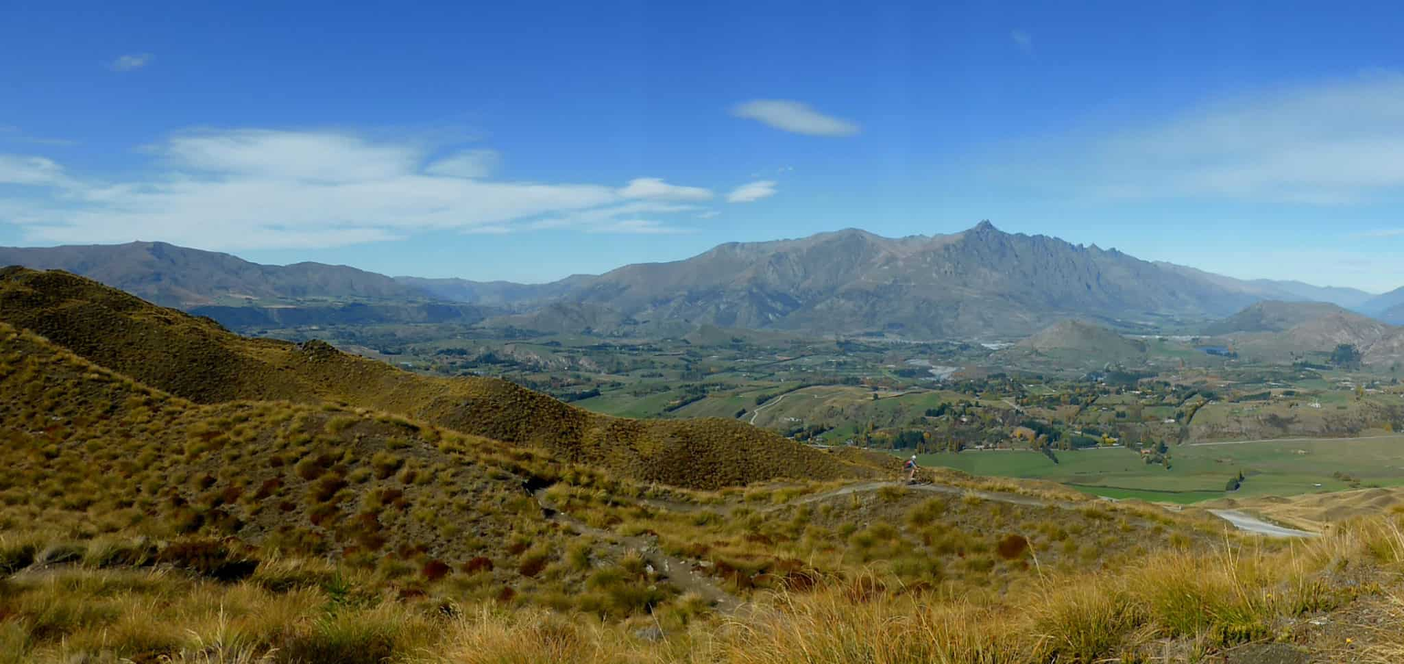 Views from Coronet Peak Mountain Bike Trails