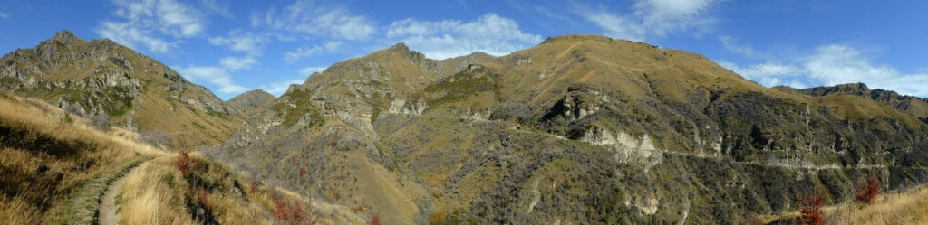 Panoramic of Skippers Canyon trail