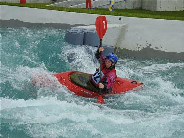 Whitewater kayaking River Rush feature
