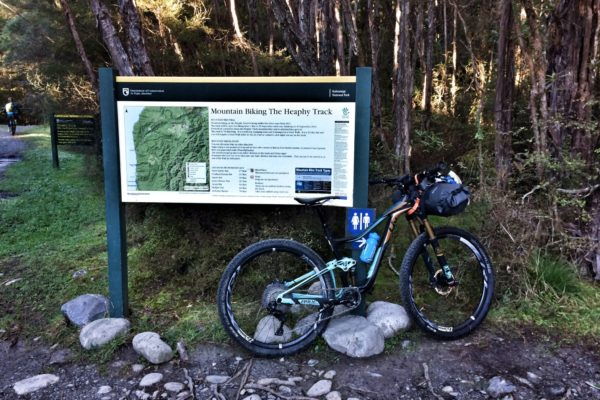 Start of the Heaphy Track