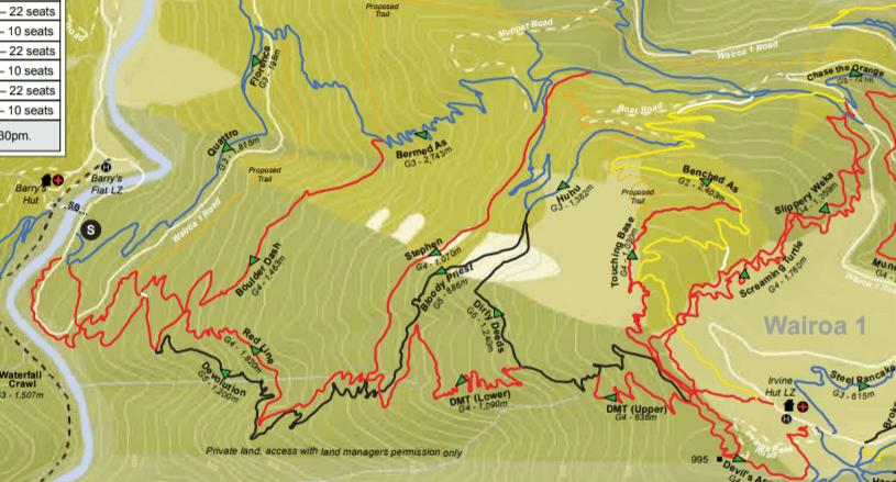 Wairoa Gorge Trail Map